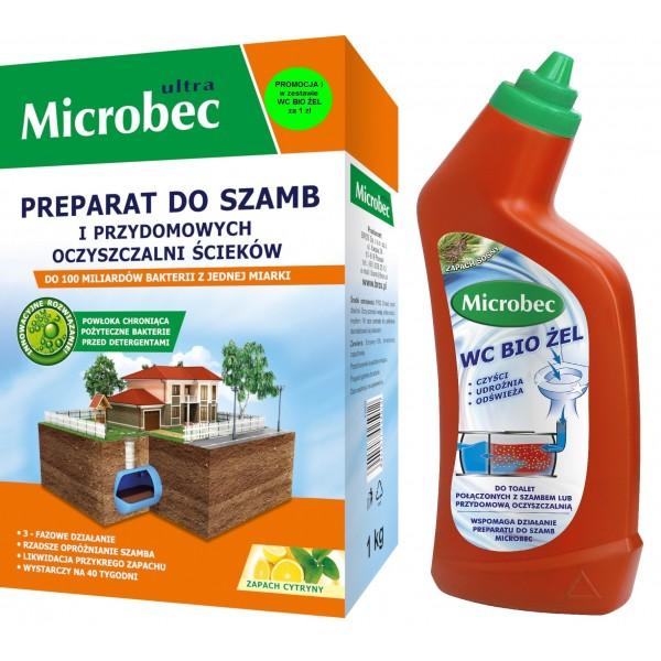 MICROBEC ULTRA PREPARAT DO SZAMB 1KG+BIO ŻEL GRATIS