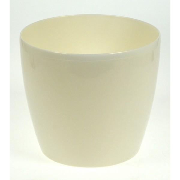 Doniczka magnolia 120 mm biała perła